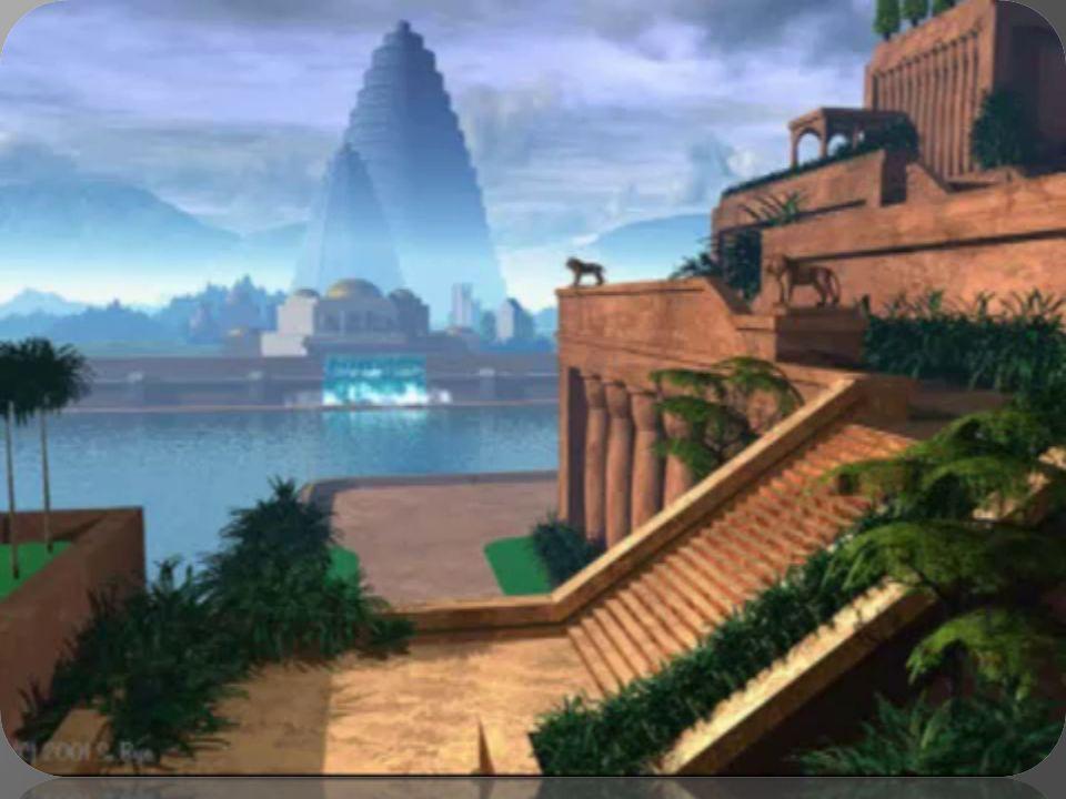 Λέγεται ότι οι κήποι χτίστηκαν από τον Ναβουχοδονόσορ για να ευχαριστήσει την σύζυγό του Αμυιτις. Η Αμυιτις ήταν κόρη του βασιλιά της Μηδίας. Η Αμυίτι