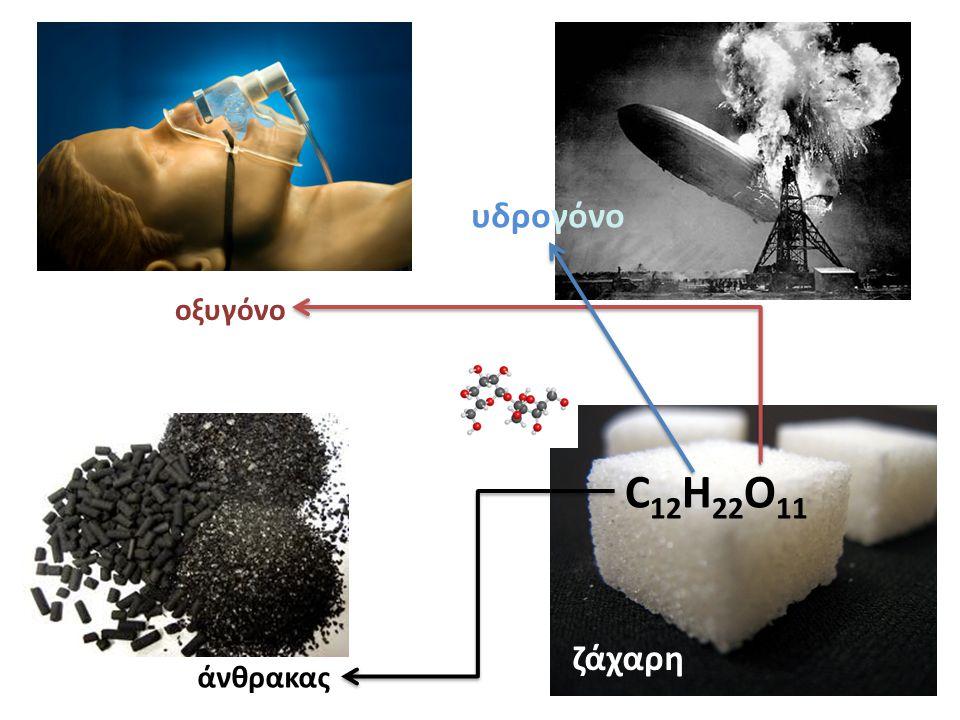 C 12 H 22 O 11 οξυγόνο άνθρακας υδρογόνο ζάχαρη