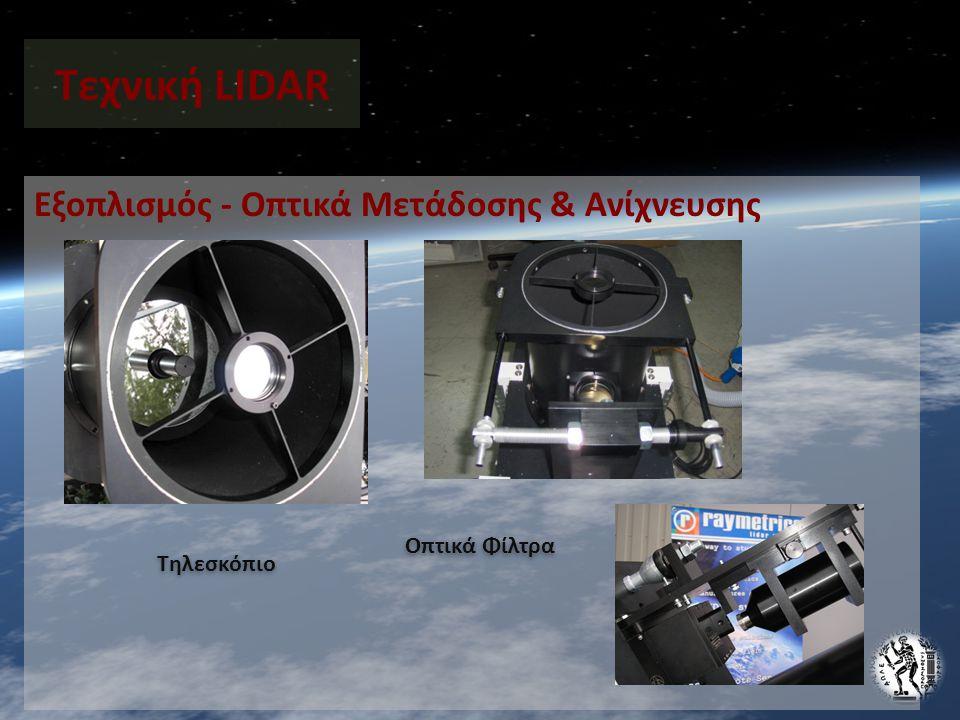 Εξοπλισμός - Οπτικά Μετάδοσης & Ανίχνευσης Τεχνική LIDAR Τηλεσκόπιο Οπτικά Φίλτρα