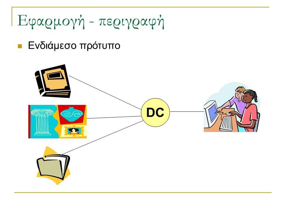 Εφαρμογή - περιγραφή Ενδιάμεσο πρότυπο DC
