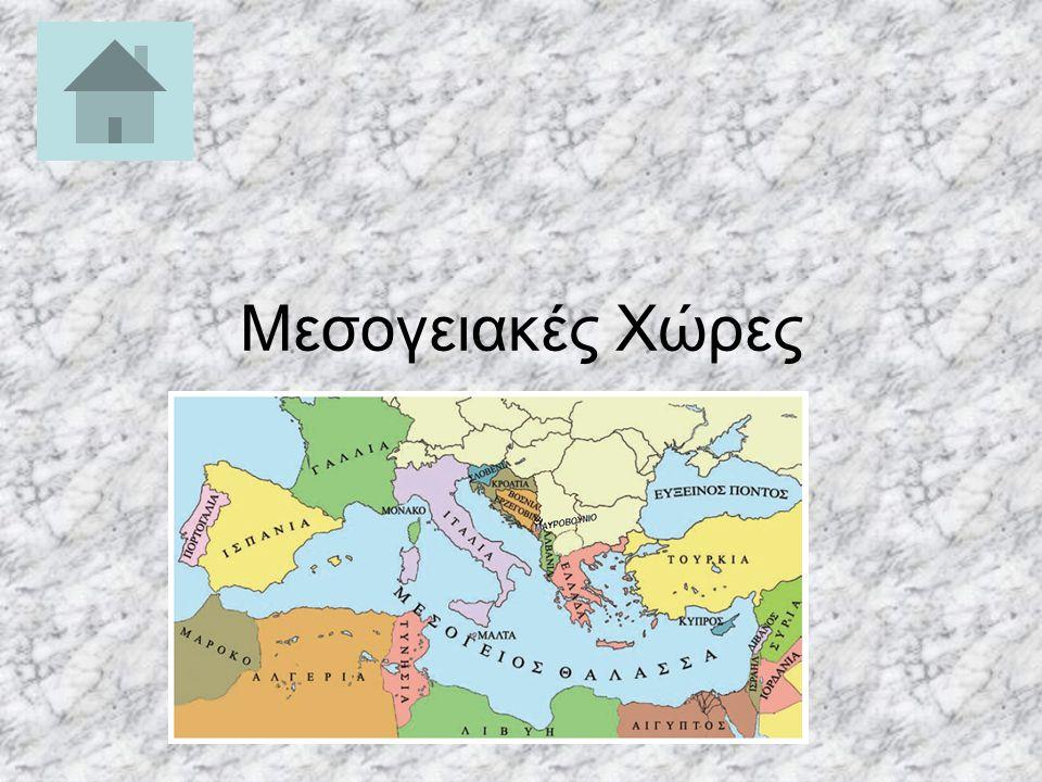 ΜΕΝU ΕΠΙΛΟΓΩΝ Μεσογειακές Χώρες Ιταλία Ελλάδα Ισπανία Γαλλία Τουρκία Αλβανία Αίγυπτος Κύπρος Τυνησία