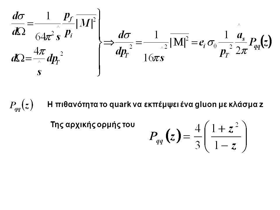 Η πιθανότητα το quark να εκπέμψει ένα gluon με κλάσμα z Της αρχικής ορμής του