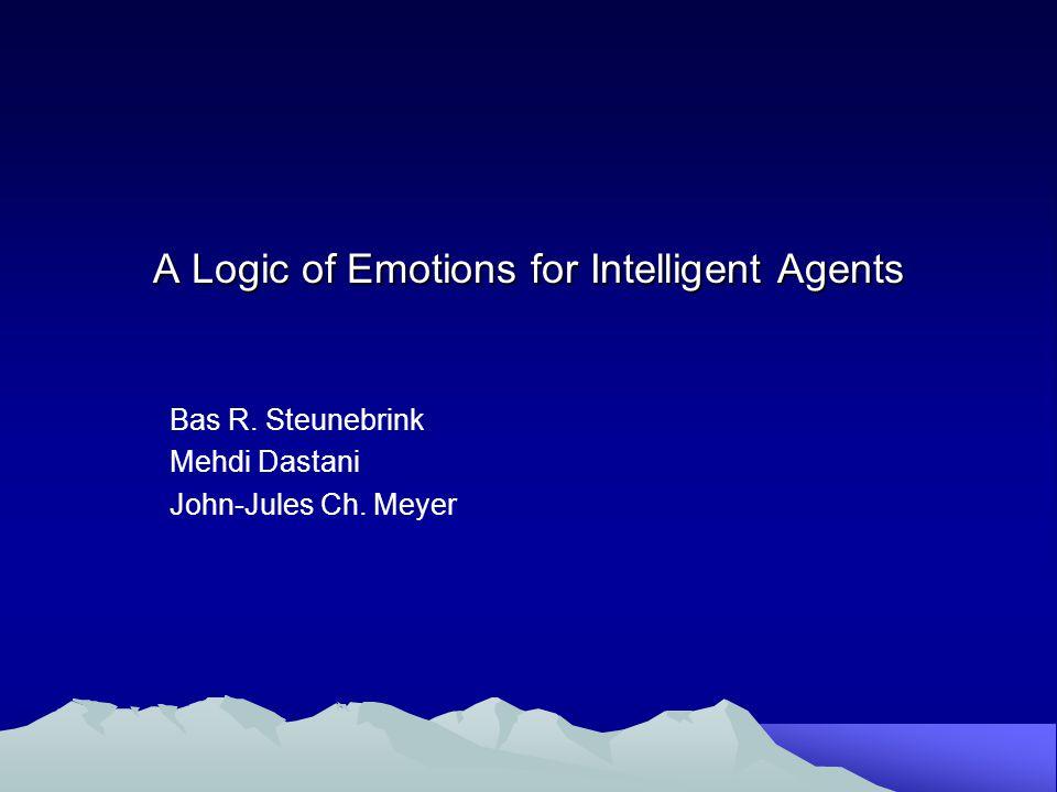 Αντικείμενο της Δημοσίευσης Η δημοσίευση αυτή παρουσιάζει μία τυπική μαθηματική περιγραφή ενός γνωστού μοντέλου συναισθημάτων.