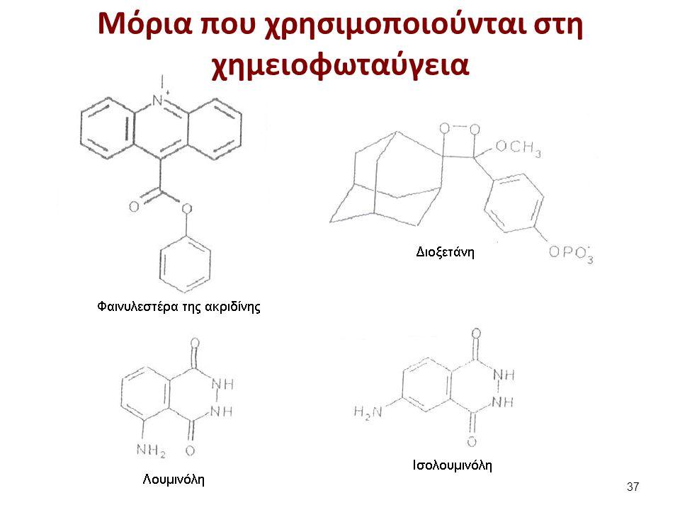 Μόρια που χρησιμοποιούνται στη χημειοφωταύγεια 37