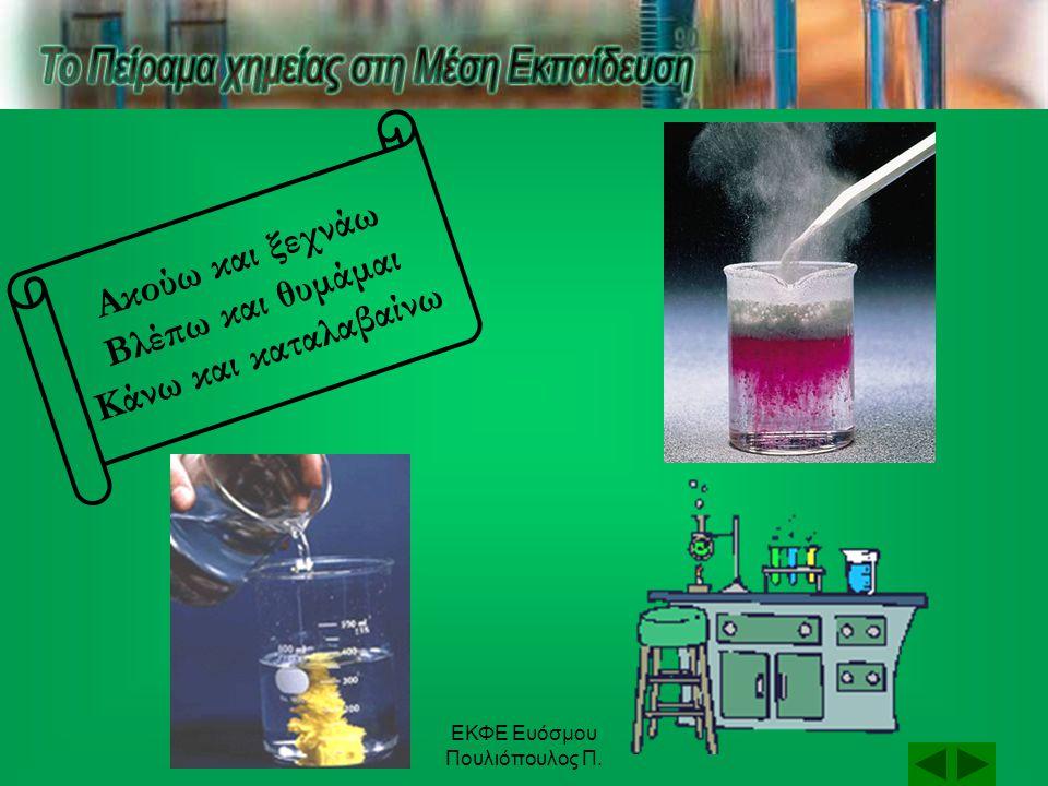 ΕΚΦΕ Ευόσμου Πουλιόπουλος Π. Και άλλα πειράματα... (NH 4 ) 2 Cr 2 O 7  N 2 + 4H 2 O + Cr 2 O 3