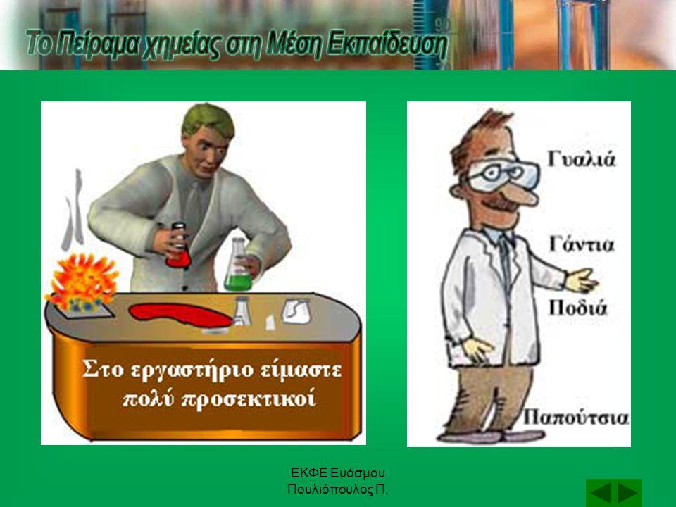 ΕΚΦΕ Ευόσμου Πουλιόπουλος Π. Πειραματική διαδικασία