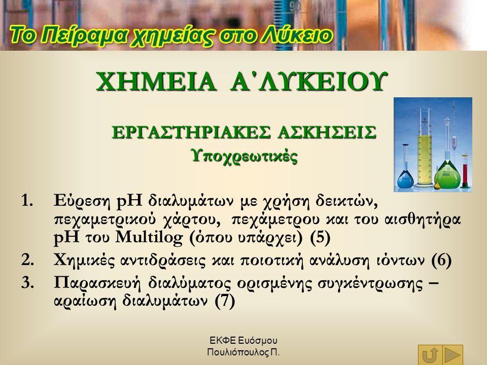 ΕΚΦΕ Ευόσμου Πουλιόπουλος Π. Cu +2 AgNO 3  Cu(NO 3 ) 2 + 2Agº