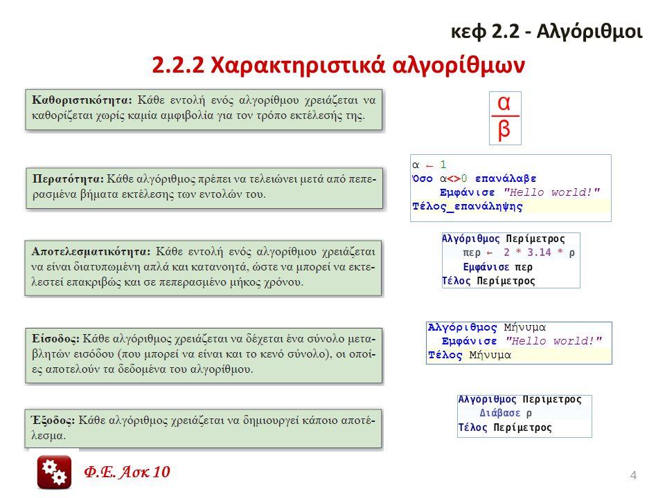 2.2.3 Ανάλυση αλγορίθμων 5 κεφ 2.2 - Αλγόριθμοι Θεωρία υπολογισμού Υπάρχει λύση στο πρόβλημα; Η λύση είναι αποδοτική; Η θεωρία Υπολογισμού διαιρείται σε 2 κλάδους: 1.Θεωρία Υπολογισιμότητας (Πόσο αποδοτική είναι η λύση;) 2.Θεωρία Πολυπλοκότητας (Τι πόροι-χρόνος και χώρος μνήμης- απαιτούνται;)