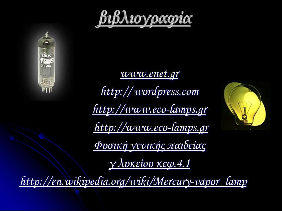 βιβλιογραφία www.enet.gr http:// wordpress.com http://www.eco-lamps.gr http://www.eco-lamps.gr http://www.eco-lamps.grhttp://www.eco-lamps.gr Φυσική γ