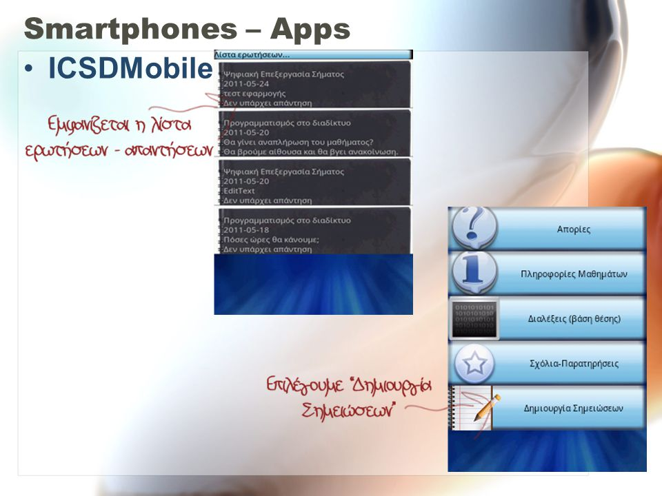 Smartphones – Apps ICSDMobile