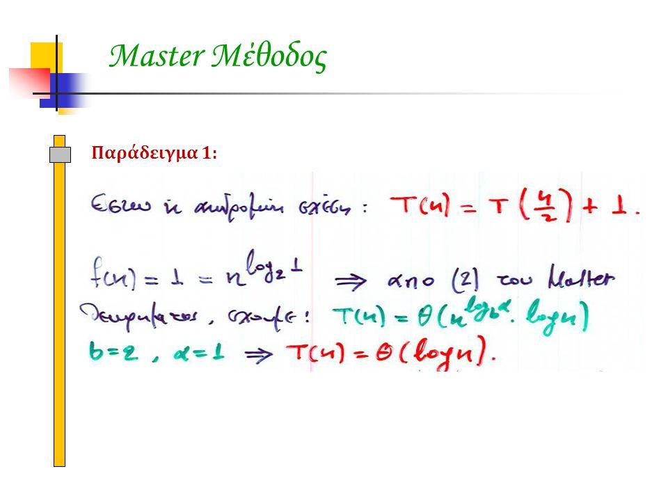 Master Μέθοδος Παράδειγμα 1: