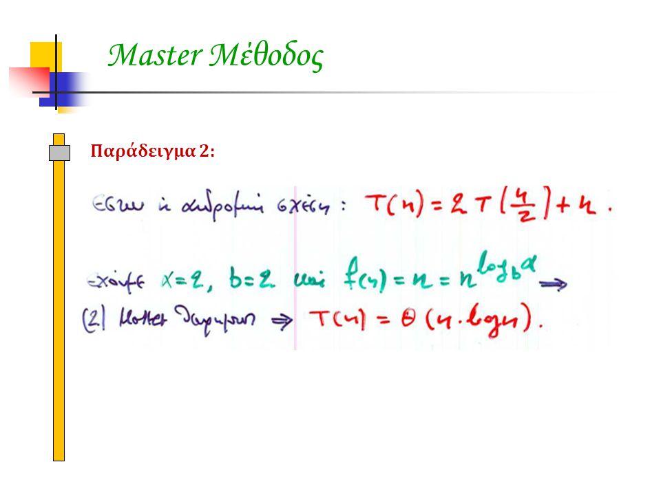 Master Μέθοδος Παράδειγμα 2: