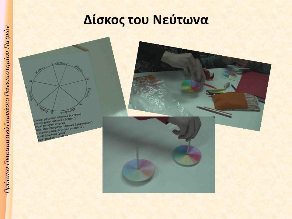 Πρότυπο Πειραματικό Γυμνάσιο Πανεπιστημίου Πατρών Δίσκος του Νεύτωνα