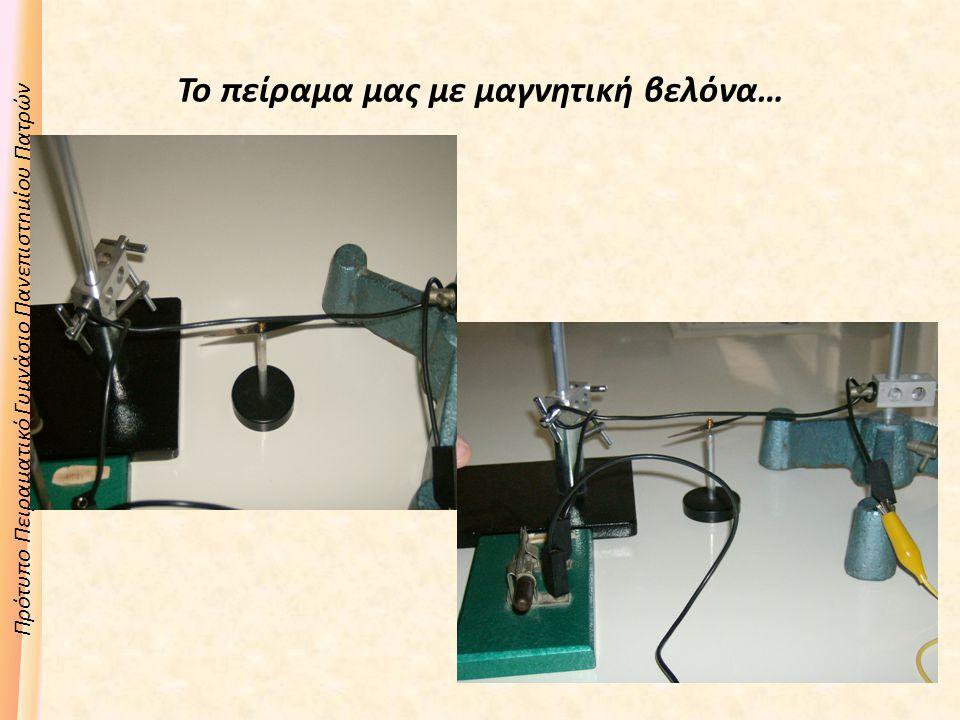 Πρότυπο Πειραματικό Γυμνάσιο Πανεπιστημίου Πατρών Το πείραμα μας με μαγνητική βελόνα…