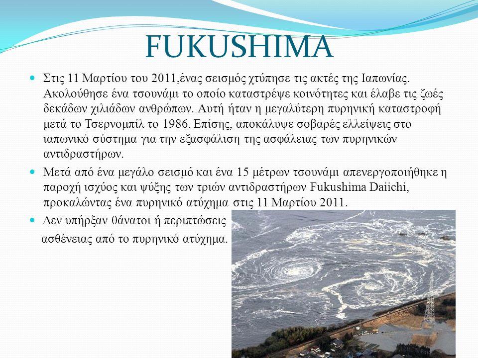 Στις 11 Μαρτίου του 2011,ένας σεισμός χτύπησε τις ακτές της Ιαπωνίας. Ακολούθησε ένα τσουνάμι το οποίο καταστρέψε κοινότητες και έλαβε τις ζωές δεκάδω