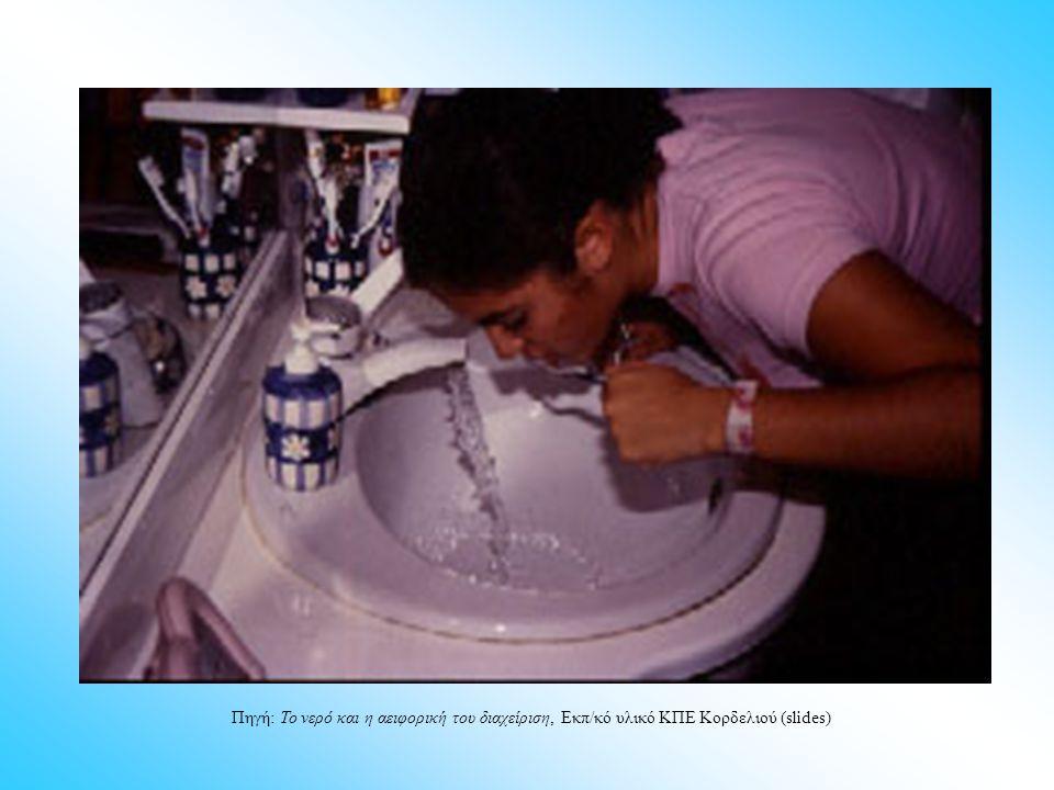 Πηγή: Το νερό και η αειφορική του διαχείριση, Εκπ/κό υλικό ΚΠΕ Κορδελιού (slides)