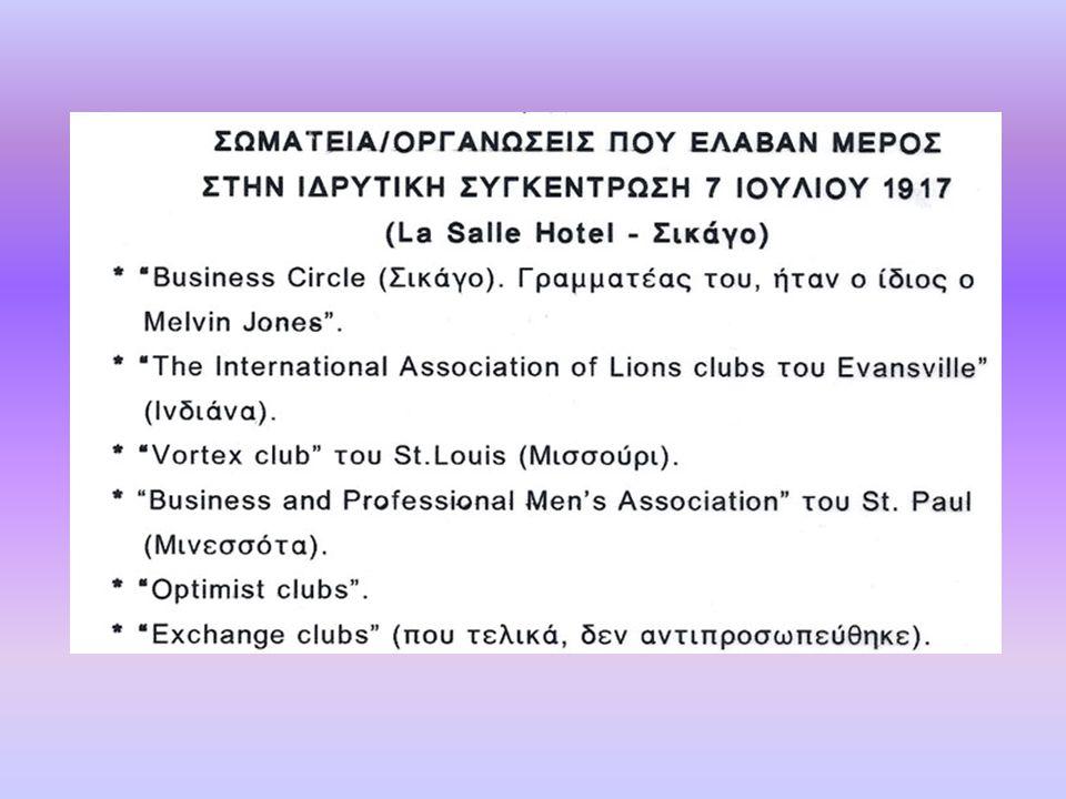 Association of Lions Clubs (Πρώτη ονομασία της Οργάνωσης)