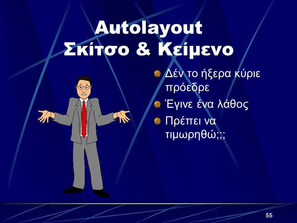 54 Autolayout Κείμενο & Γραφικά Γραμμή 1 Γραμμη 2 Γραμμή 3