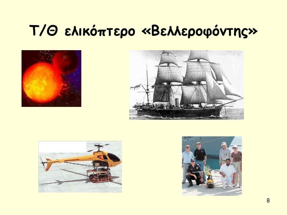 9 Ανακεφαλαίωση - Σκοποί Άθλοι Βελλεροφόντη (κατατρόπωση των Σόλυμων-συντριβή των Αμαζόνων-εξόντωση της Χίμαιρας) Βασικός συμβολισμός μύθου: η αδυναμία των ανθρώπων να ξεφύγουν από τη ματαιοδοξία και τα πάθη τους «Βελλεροφόντης» : UAV τ/θ Ε/Π για εντοπισμό ραδιενεργών υλικών, σύμπραξης ΣΝΔ-ΚΕΝΑΠ- Monterey