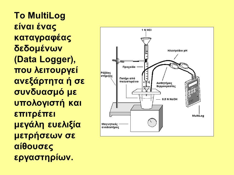 Το MultiLog είναι ένας καταγραφέας δεδομένων (Data Logger), που λειτουργεί ανεξάρτητα ή σε συνδυασμό με υπολογιστή και επιτρέπει μεγάλη ευελιξία μετρή
