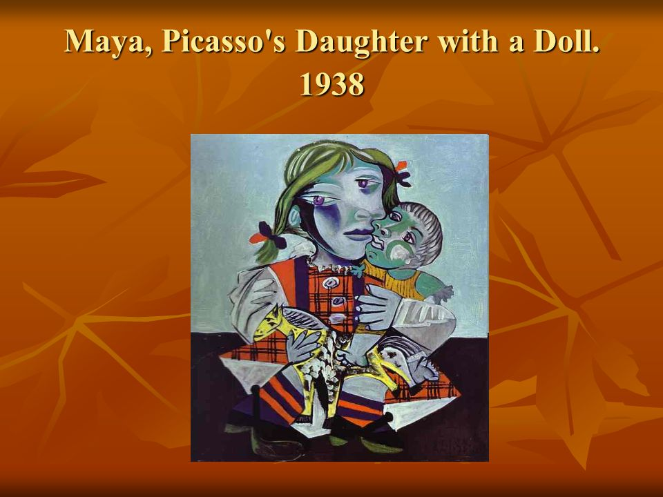 Maya, Picasso's Daughter with a Doll. 1938