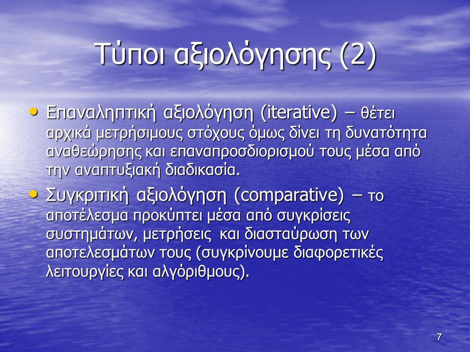 28 Νέα Προσπάθεια Αξιολόγησης DL MetaLibrary ( DELOS WG 2.1) DL MetaLibrary ( DELOS WG 2.1) http://www.sztaki.hu/delos_wg21/metalib Εκτεταμένη έρευνα όπου κάθε ΨΒ μπορεί να τεθεί σε διαδικασία αξιολόγησης και να συλλέξει απόψεις για την ποιότητά της.