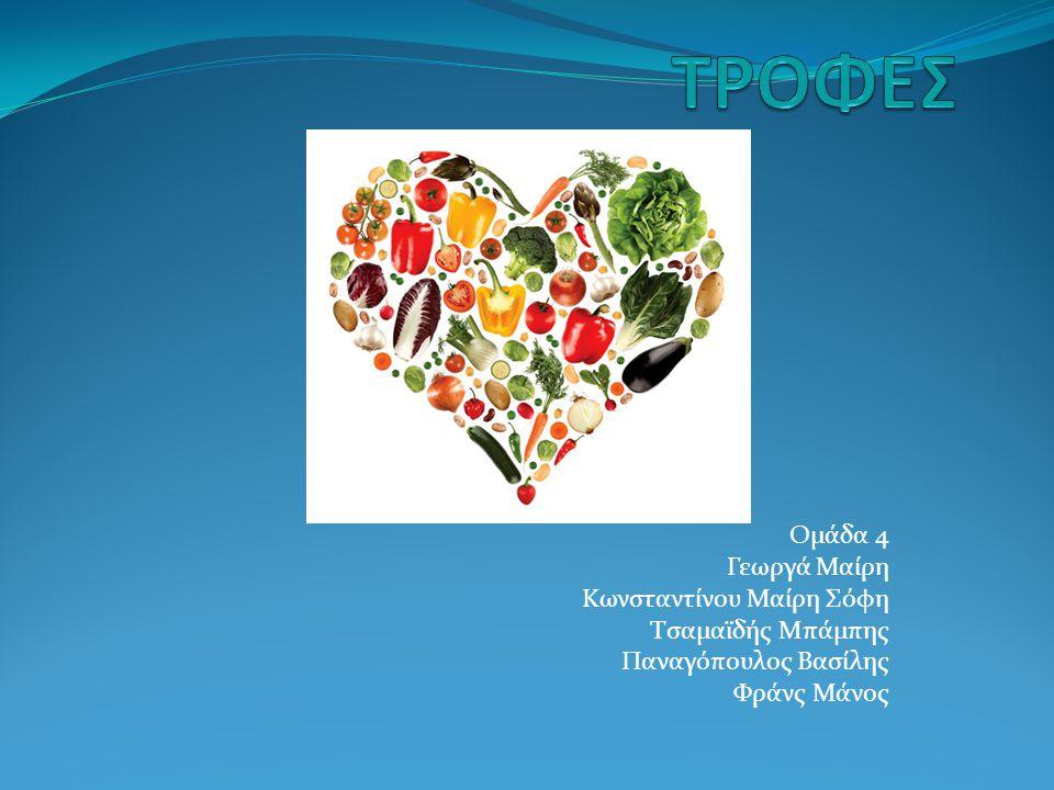 Ο λόγος για τον οποίο επιλέξαμε αυτό το θέμα είναι γιατί πιστεύουμε πως οι τροφές περιέχουν: Πολλές θρεπτικές ουσίες Μέταλλα Ιχνοστοιχεία Λίπη Το ερώτημα είναι σε ποιες τροφές βρίσκονται αυτά; Στόχος μας είναι να βρούμε τις τροφές όπου είναι πλούσια σε αυτά και ποιες όχι, καθώς και να μάθουμε ποιοι από τους ανθρώπους κατά μέσο όρο καταναλώνουν περιττές ουσίες.