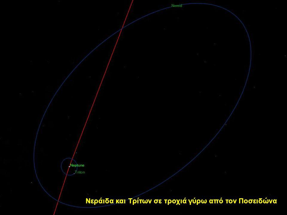 Δορυφόροι σε τροχιά γύρω από Ποσειδώνα (εκτός από τη Νεράιδα)