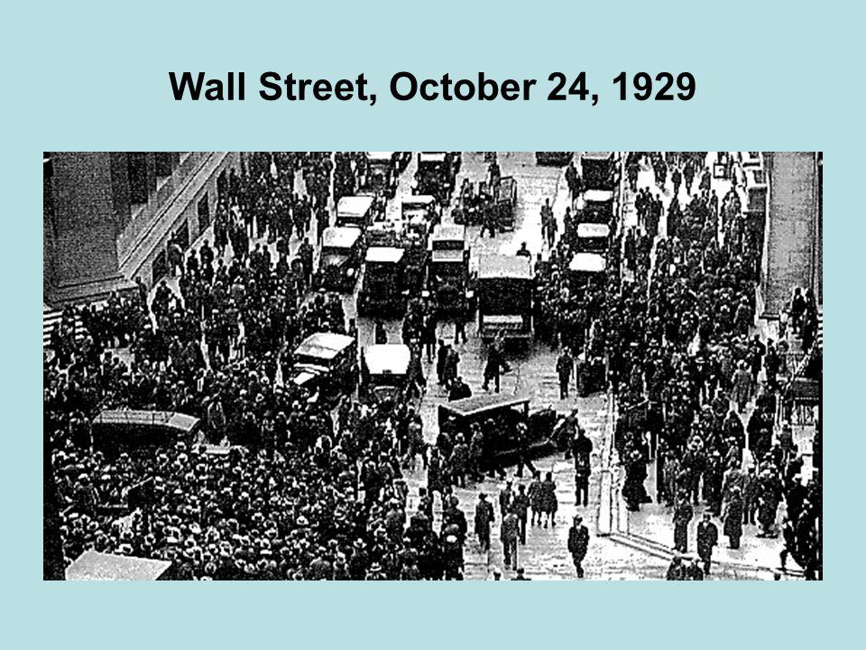 Wall Street, October 24, 1929
