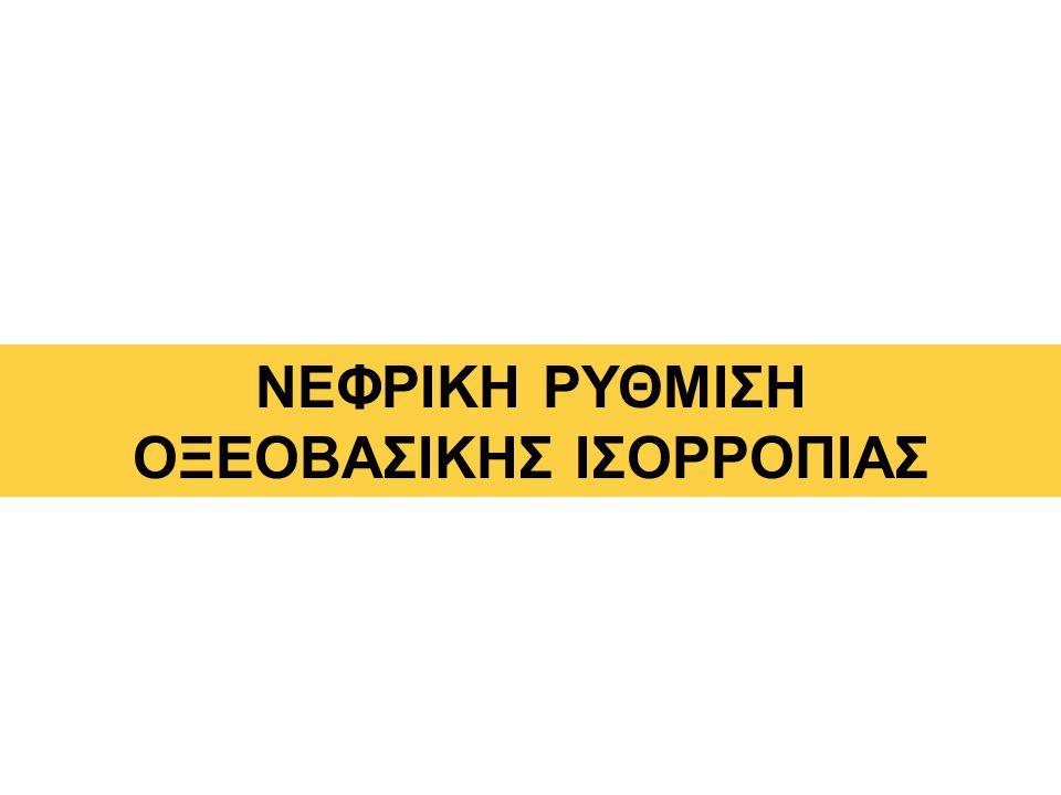 ΝΕΦΡΙΚΗ ΡΥΘΜΙΣΗ ΟΞΕΟΒΑΣΙΚΗΣ ΙΣΟΡΡΟΠΙΑΣ