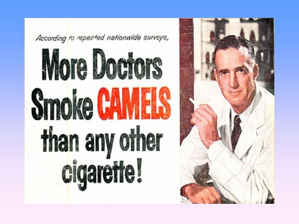 …και ότι οι οδοντίατροι συνιστούσαν το κάπνισμα συγκεκριμένης μάρκας τσιγάρων με φίλτρο για το καλό των δοντιών των πελατών τους … βεβαίως … βεβαίως.