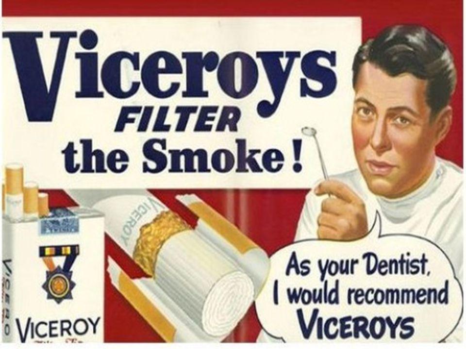 Στη διαφήμιση των τσιγάρων που λόγω άγνοιας, το κάπνισμά τους θεωρούνταν αθώα συνήθεια, εμπλέκονταν και πράγματι αθώα μωράκια.