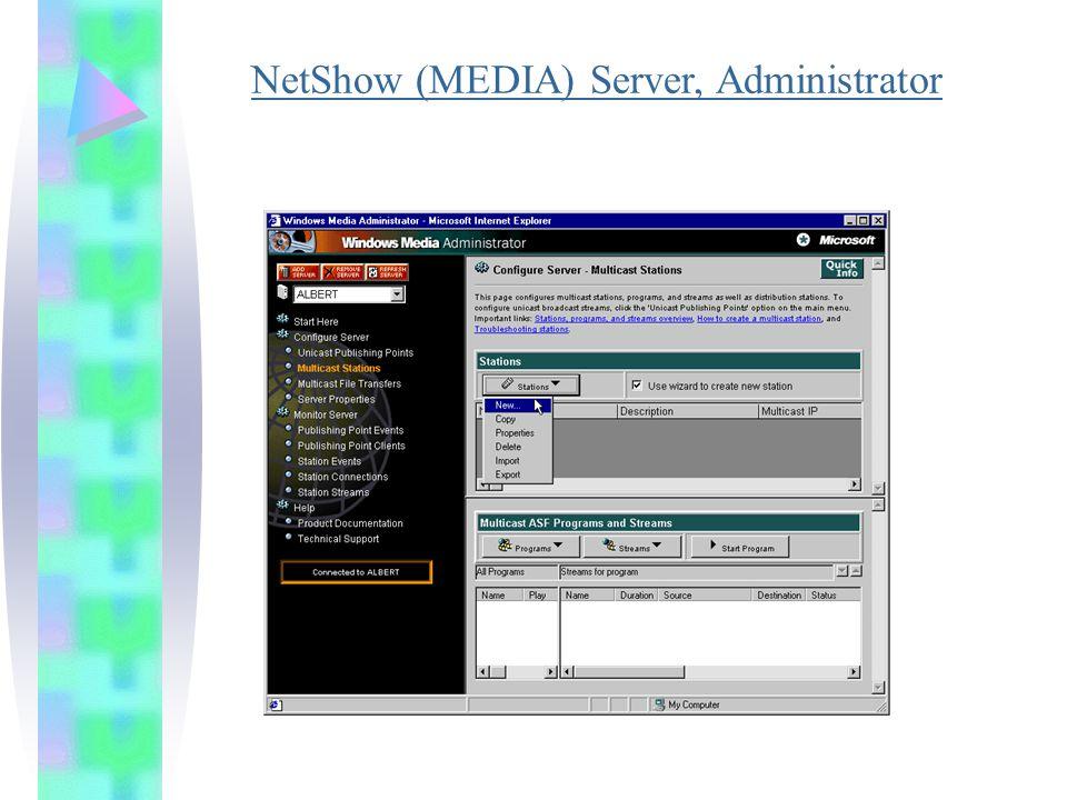 NetShow (MEDIA) Server, Administrator