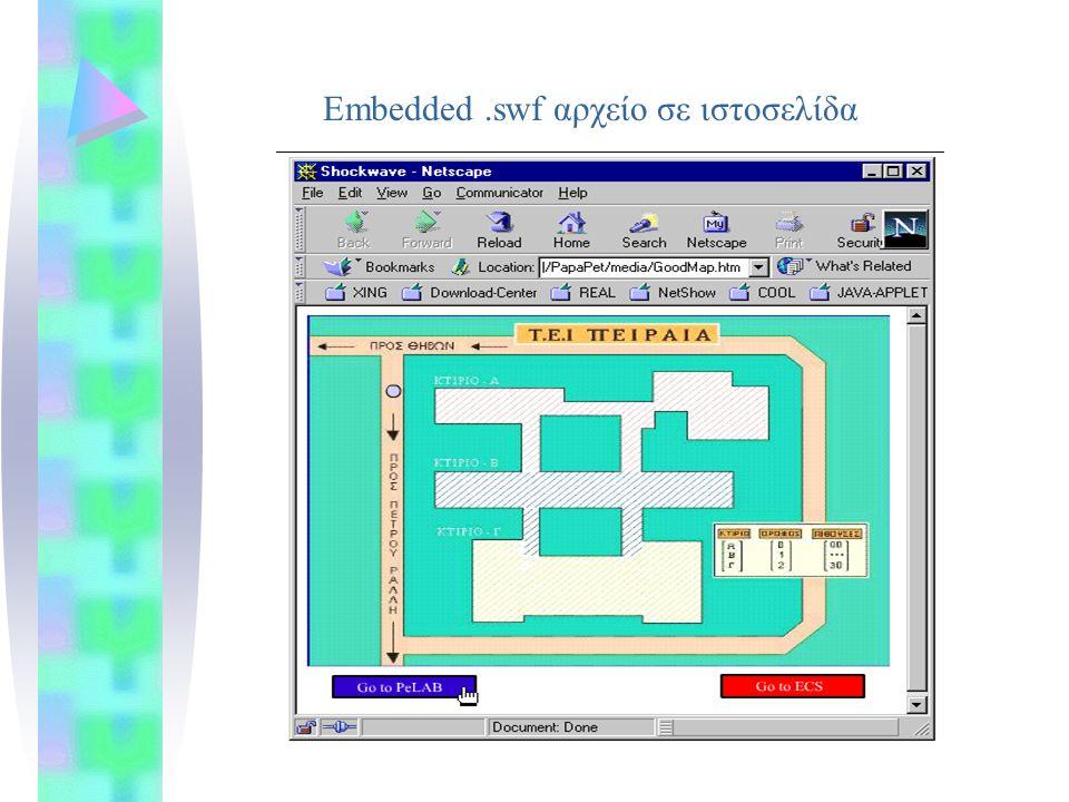 Embedded.swf αρχείο σε ιστοσελίδα