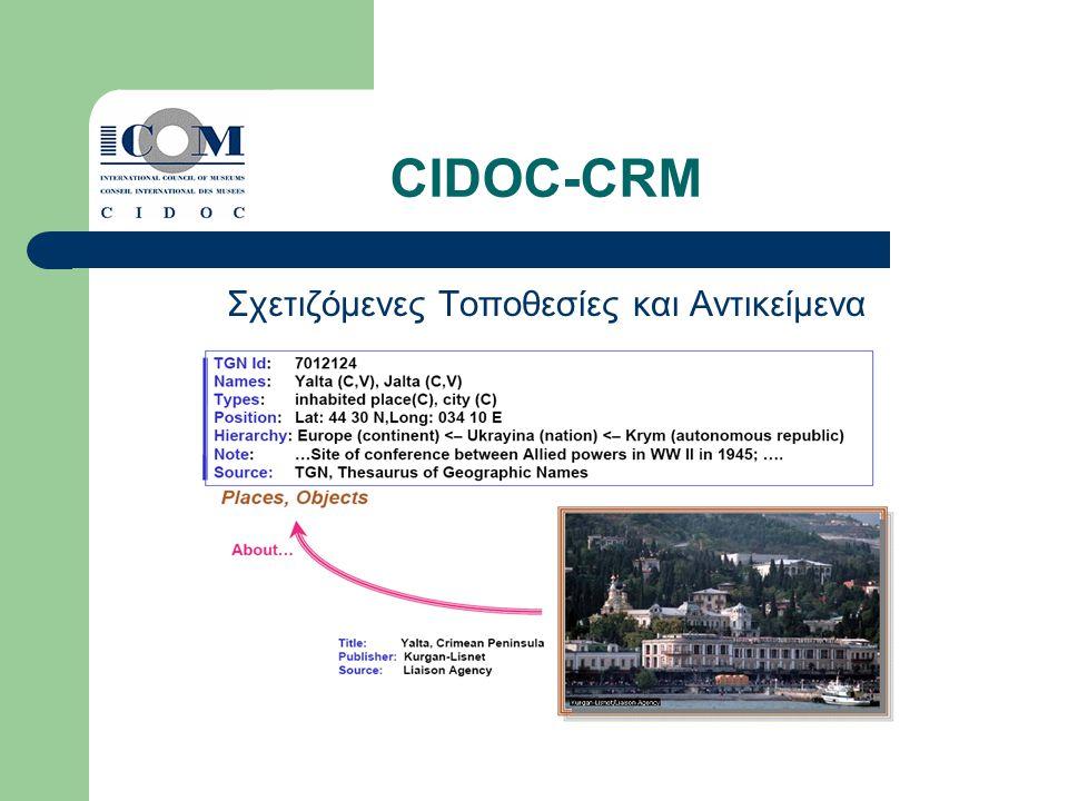 CIDOC-CRM Σχετιζόμενες Τοποθεσίες και Αντικείμενα