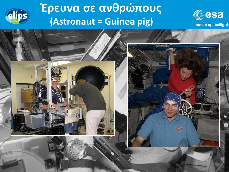 human spaceflight Έρευνα σε ανθρώπους (Astronaut = Guinea pig)