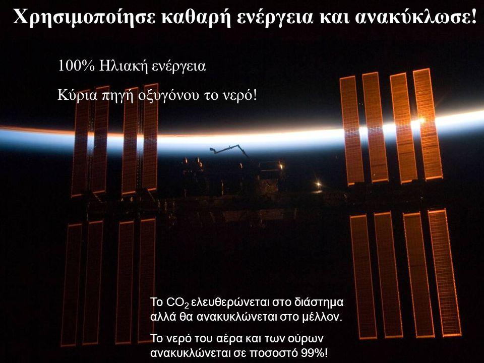 Χρησιμοποίησε καθαρή ενέργεια και ανακύκλωσε. 100% Ηλιακή ενέργεια Κύρια πηγή οξυγόνου το νερό.
