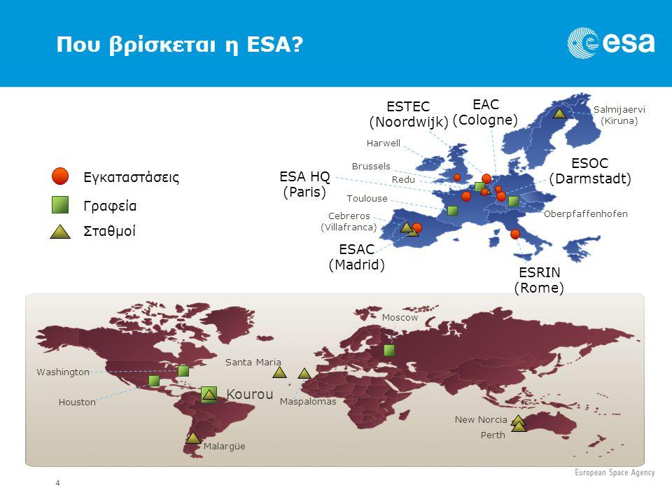 5 Ετήσιος Οικονομικός Προϋπολογισμός (2011) Programmes and mandatory activities3985.9 M€ European Cooperating States Agreement (ECSA) 7.9 M€ Total3993.8 M€ Budgets 2011 3993.8 M€ Technology* 2.5%, 105.1 M€ Launchers 15.3%, 612.5 M€ M€: Million Euro *includes Third Parties Robotic Exploration 3.2%, 129.4 M€ Human Spaceflight 10.3%, 410.9 M€ Navigation* 16.7%, 665.7 M€ Telecommunications* 8.5%, 341.3 M€ Earth Observation* 21.1%, 843.9 M€ Science 11.6%, 464.8 M€ General Budget 4.5%, 179.9 M€ Basic Activities 5.4%, 216.7 M€ ECSA 0.2%, 7.9 M€ Space Situational Awareness 0.4%, 15.7 M€