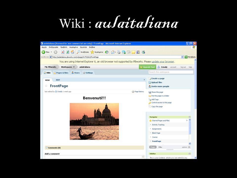 Wiki : aulaitaliana