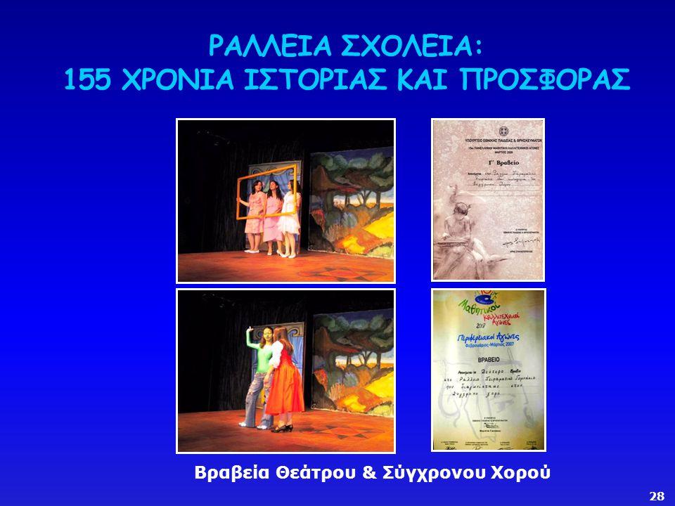 ΡΑΛΛΕΙΑ ΣΧΟΛΕΙΑ: 155 ΧΡΟΝΙΑ ΙΣΤΟΡΙΑΣ ΚΑΙ ΠΡΟΣΦΟΡΑΣ Βραβεία Θεάτρου & Σύγχρονου Χορού 28