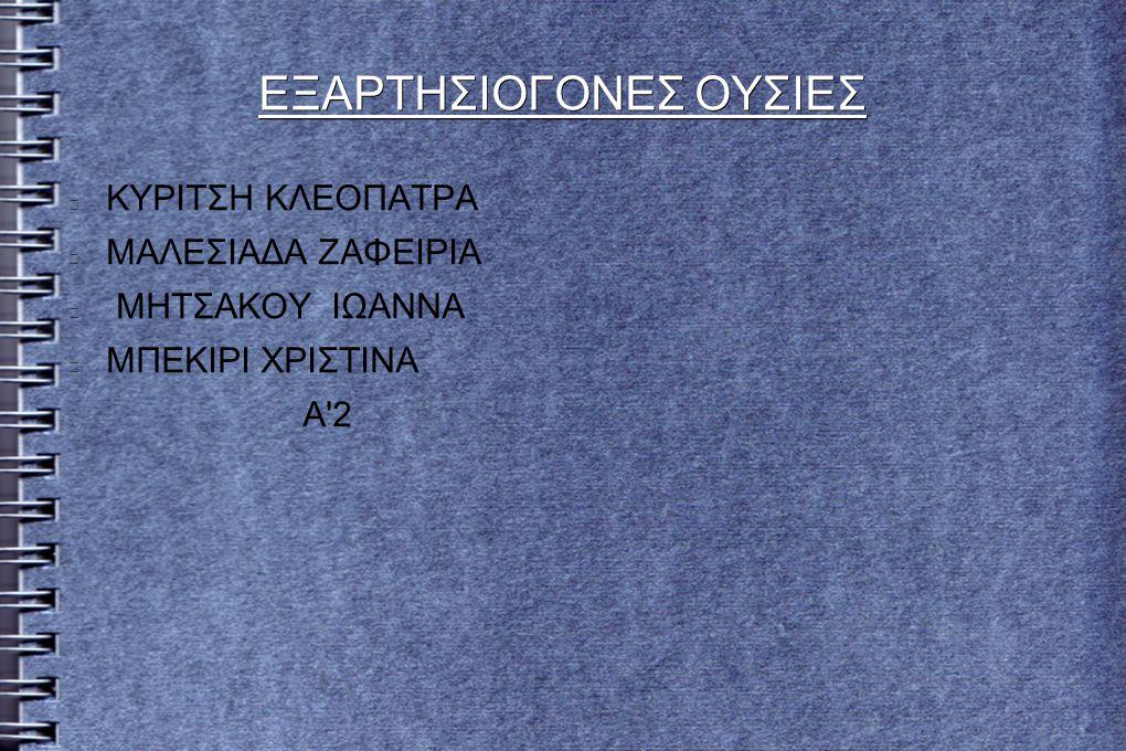 ΠΕΡΙΛΗΨΗ ΕΤΥΜΟΛΟΓΙΑ ΟΡΟΥ (ΕΞΑΡΤΗΣΗ-ΕΘΙΣΜΟΣ) ΑΛΚΟΟΛ ΚΑΠΝΙΣΜΑ-ΝΙΚΟΤΙΝΗ ΗΡΕΜΙΣΤΙΚΑ ΝΤΟΠΙΝΓΚ ΝΑΡΚΩΤΙΚΑ ΕΡΕΥΝΑ/ΠΟΣΟΣΤΑ http://ethismos-kai-eksartisi.blogspot.gr/p/blog-page.html http://www.prolipsis.gr/index.php?id=29,116,0,0,1,0 http://www.neaygeia.gr/page.asp?p=410 http://www.help-net.gr/Themes/Narkotika.htmΠΗΓΕΣ