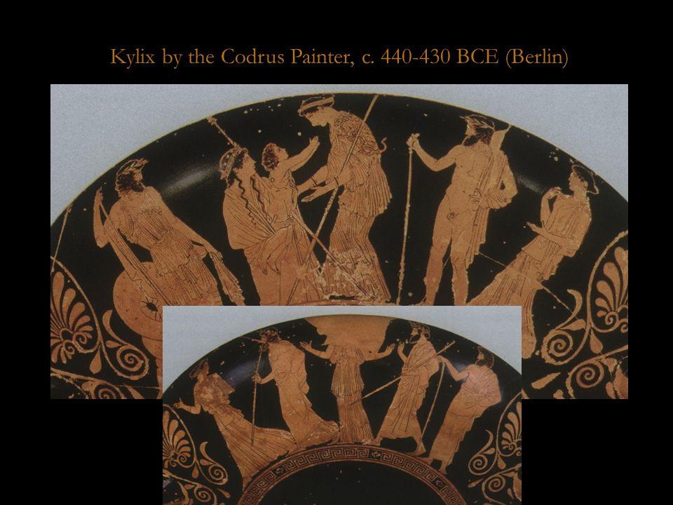 Codrus kylix Kylix by the Codrus Painter, c. 440-430 BCE (Berlin)
