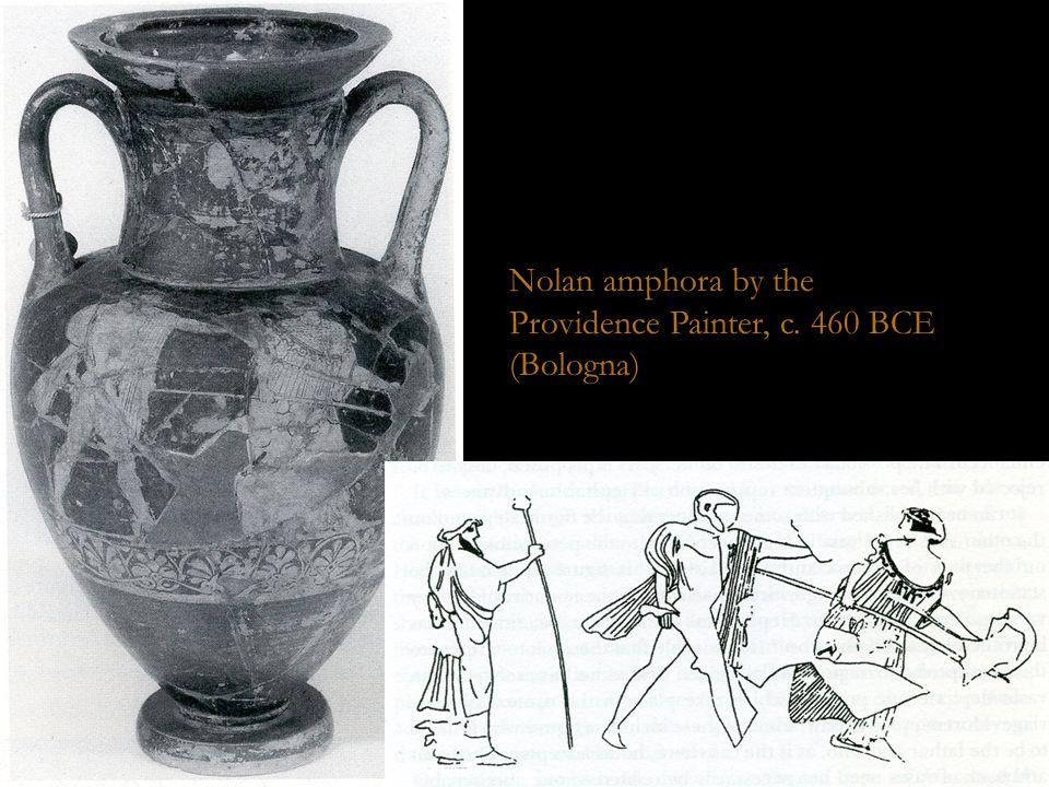 Bologna Neck Amphora (158) Nolan amphora by the Providence Painter, c. 460 BCE (Bologna)