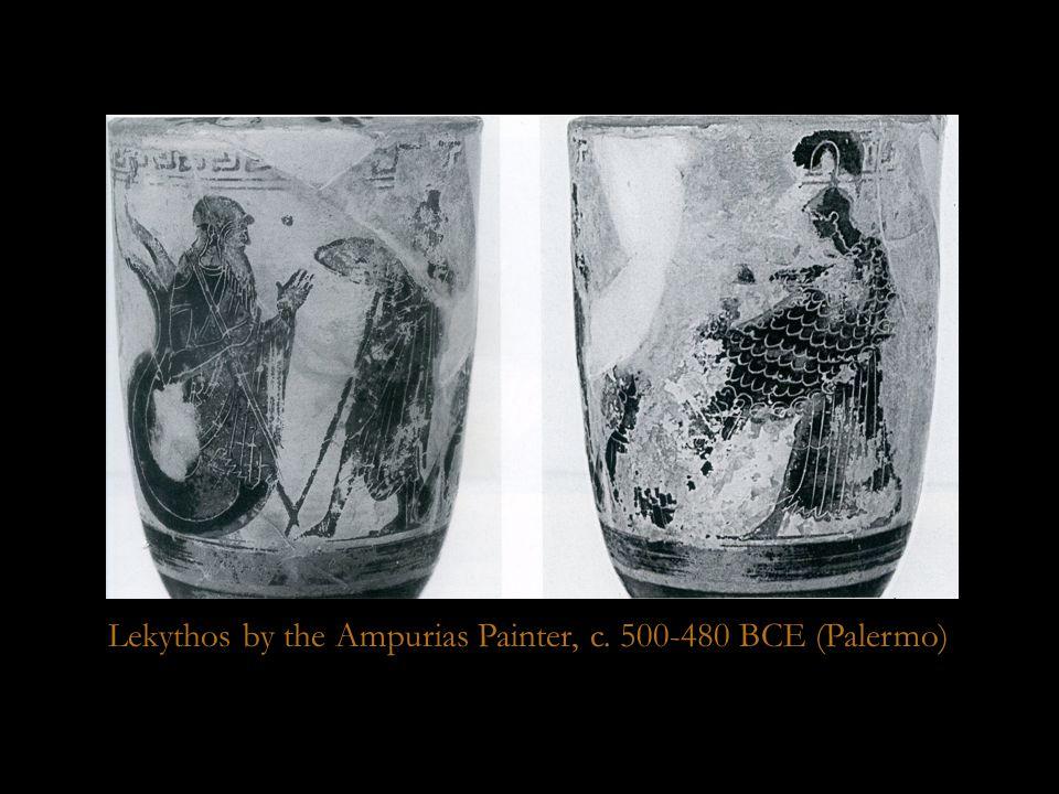 Palermo lekythos Lekythos by the Ampurias Painter, c. 500-480 BCE (Palermo)