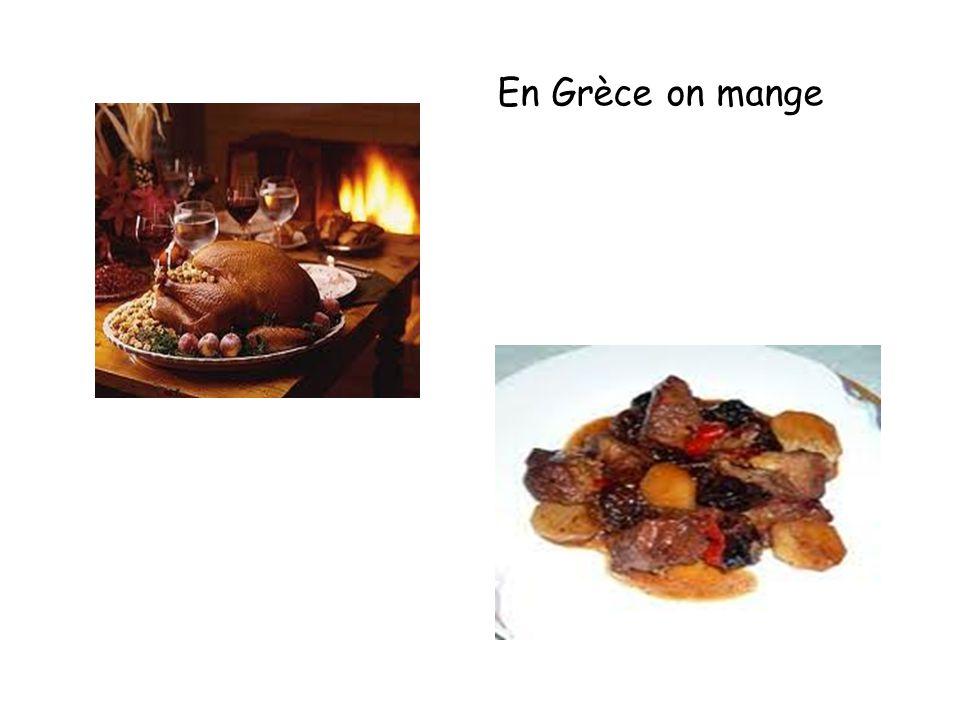 En Grèce on mange