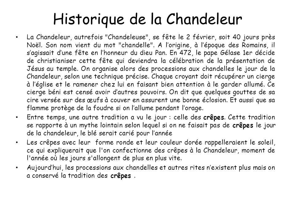 Historique de la Chandeleur La Chandeleur, autrefois