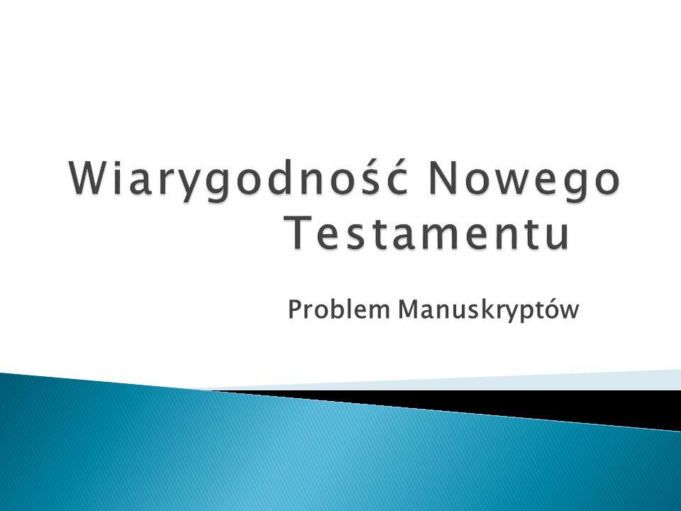 Problem Manuskryptów