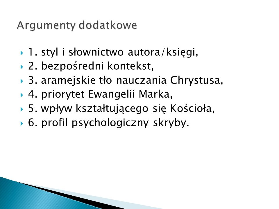  1. styl i słownictwo autora/księgi,  2. bezpośredni kontekst,  3.