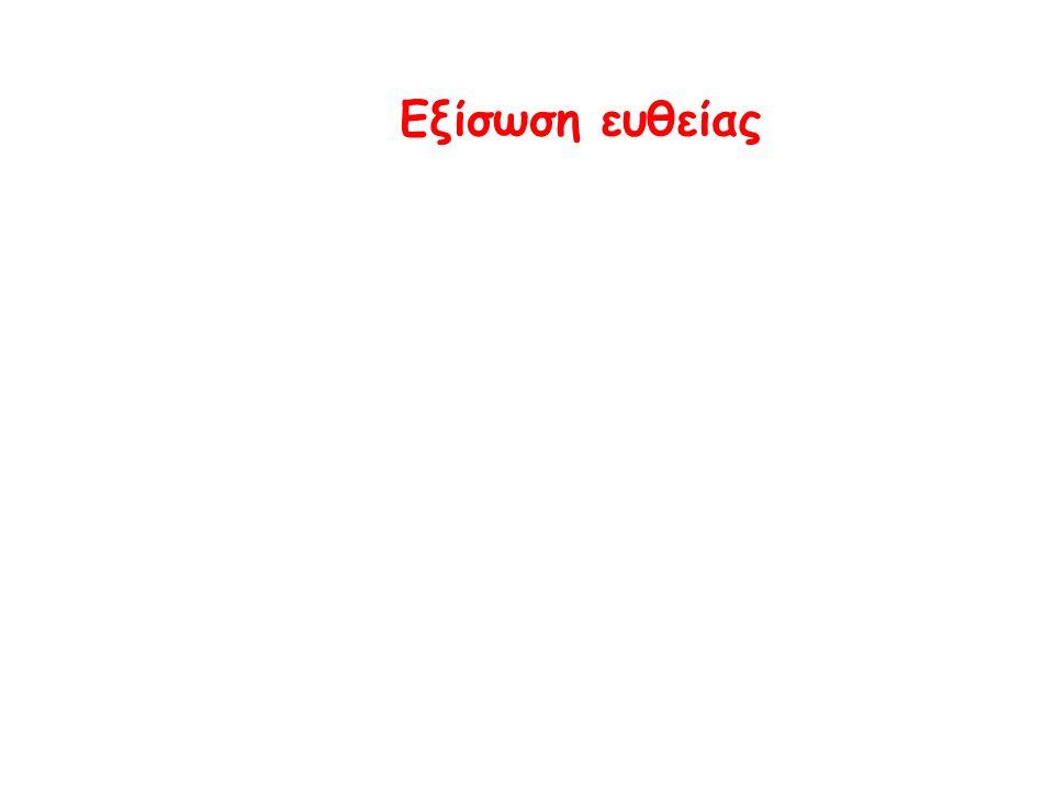 Εξίσωση ευθείας