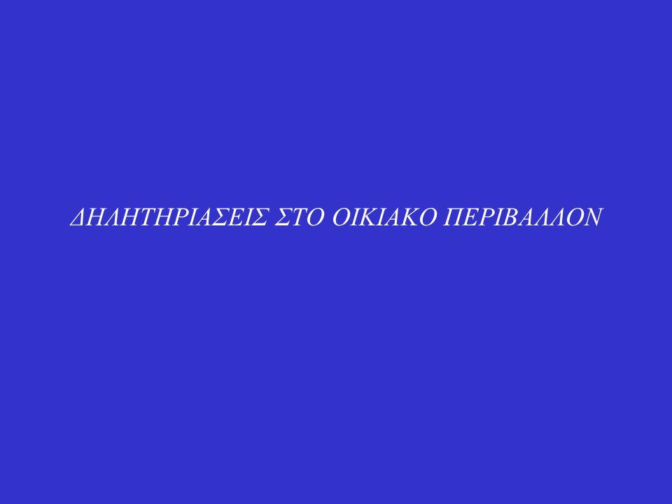 ΔΗΛΗΤΗΡΙΑΣΕΙΣ ΣΤΟ ΟΙΚΙΑΚΟ ΠΕΡΙΒΑΛΛΟΝ